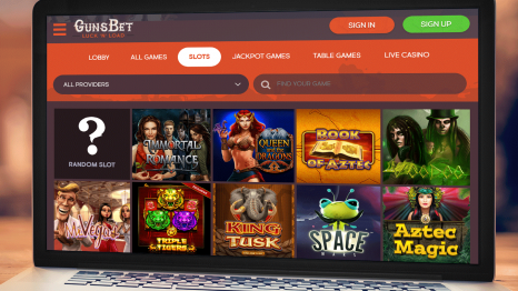 GunsBet Casino software and game variety