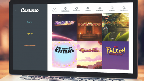 Casumo Casino software and games variety