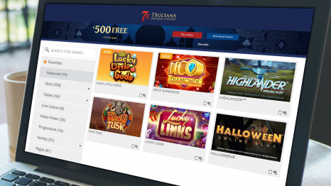7 Sultans Casino software and game variety