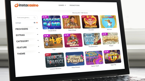 InstaCasino software and game variety