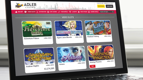 Adler Casino software and game variety