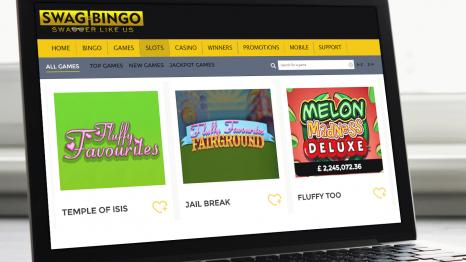 Swag Bingo Casino software and game variety