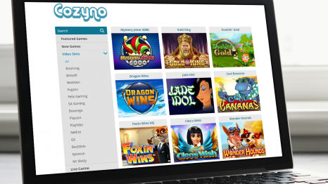 Cozyno Casino software and game variety
