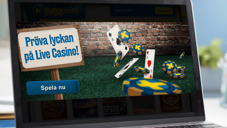 SveaCasino mobile and live gaming