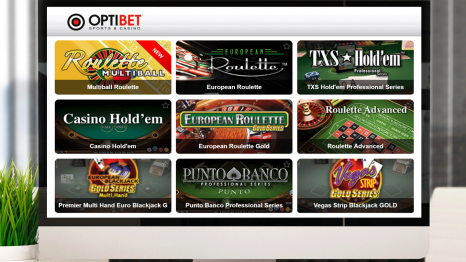 Optibet.lv Casino software and game variety