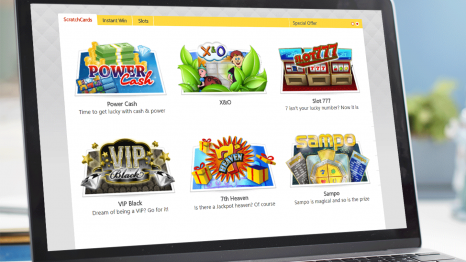 Prime ScratchCards Casino software and game variety