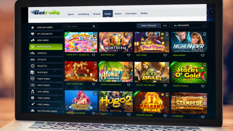 BetRally Casino software and game variety