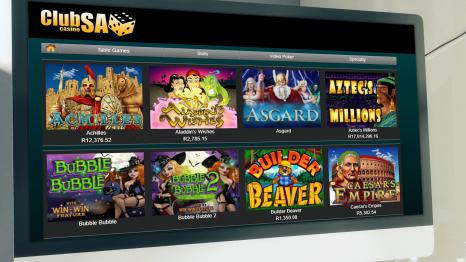Club SA Casino software and game variety