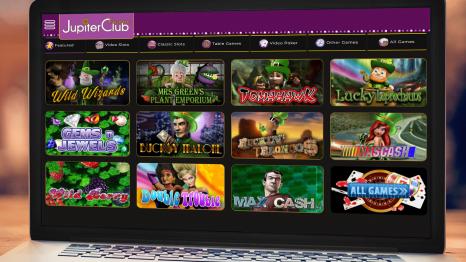 Jupiter Club Casino software and game variety