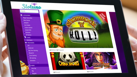 Slotsino Casino software and game variety