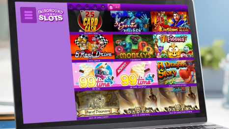 Fairground Slots Casino software and game variety