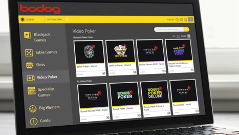 Bodog Casino software and game variety