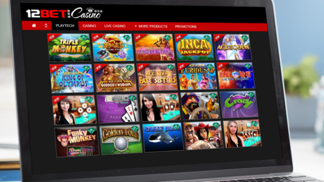 12Bet casino software and game variety