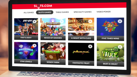 Slots.com software and game variety