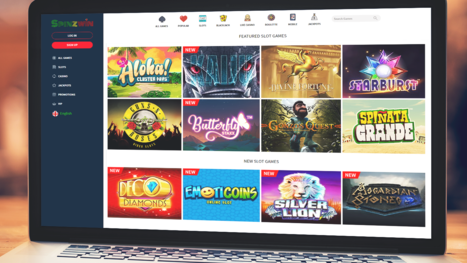 SpinzWin Casino software and game variety