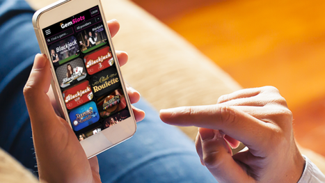 GemSlots Casino mobile and live games