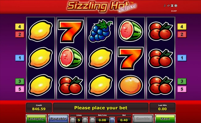 Sizzling Hot Deluxe Online Free Slot Machine